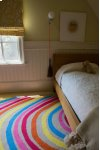 Rainbows Tan Multi Loop Hooked Rugs