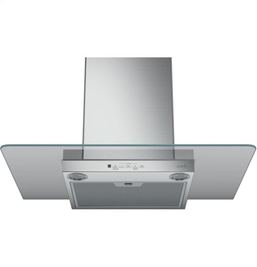 "Café 30"" Wall-Mount Glass Canopy Chimney Hood"