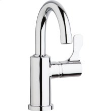 "Elkay Single Hole 8-5/8"" Deck Mount Faucet with Gooseneck Spout Lever Handle on Right Side Chrome"