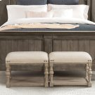 Juniper - Upholstered Bunching Bench - Natural Finish Product Image