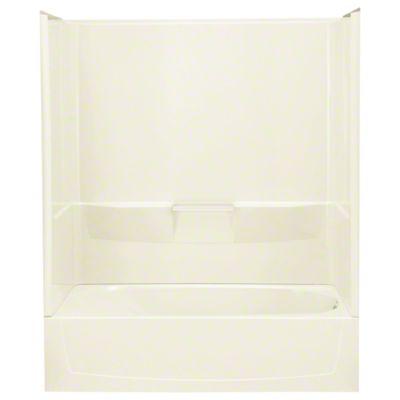 "Performa™, Series 7104, 60"" x 29"" x 75-3/4"" Bath/Shower - Right-hand Drain - KOHLER Biscuit"