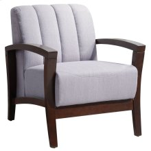 Enamor Upholstered Fabric Armchair in Walnut Gray