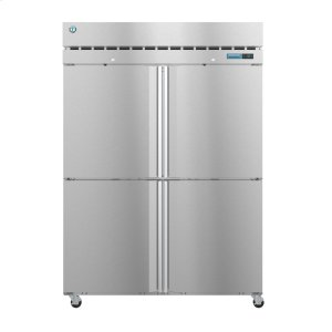 HoshizakiR2A-HS, Refrigerator, Two Section Upright, Half Stainless Doors with Lock