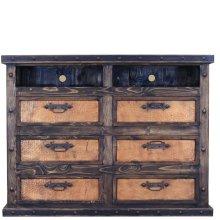 Dresser/TV Stand W/Copper Drawers