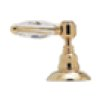 Italian Brass Viaggio 4-Hole Deck Mount C-Spout Tub Filler With Handshower With White Porcelain Lever