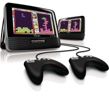 Dual screen portable DVD player