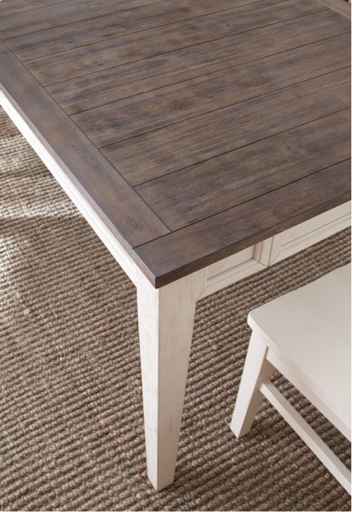 "Cayla Counter Table, Dark Oak/ White, 54""x36""x54"" w18"" Leaf"