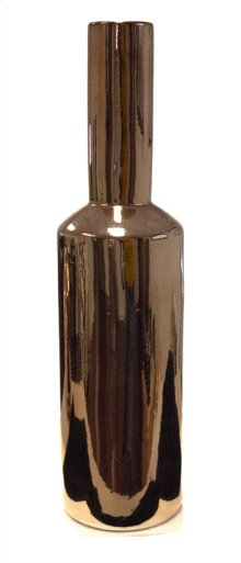 Sleek Copper Vase 19""