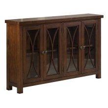 Bayside 4 Door Cabinet - Rustic Mahogany