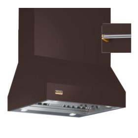 """54"""" Wide Island Hood, Brass Accessory Rail on front and back"""