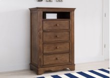 Tivoli 4 Drawer Chest with Cubby - Antique Chestnut (2100)