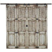 Cottage Double Shutter Sliding Door