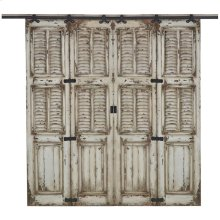 Cottage Double Shutter Sliding Door
