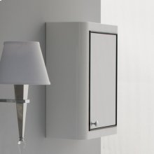 """Wall-mounted storage cabinet with one door and 2 adjustable shelves, 18""""W, 7""""D, 22""""H."""