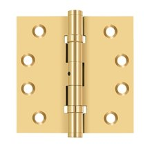 "4""x 4"" Square Hinges, Ball Bearings - PVD Polished Brass"