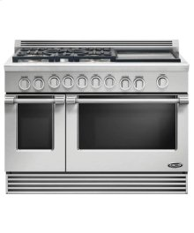 "48"" Professional, 5 Burner, Gas Range W/ 17"" Griddle"