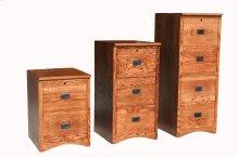 "O-M647 Mission Oak 3-Drawer Locking Vertical File Cabinet, 21""W x 21""D x 43 1/4""H"