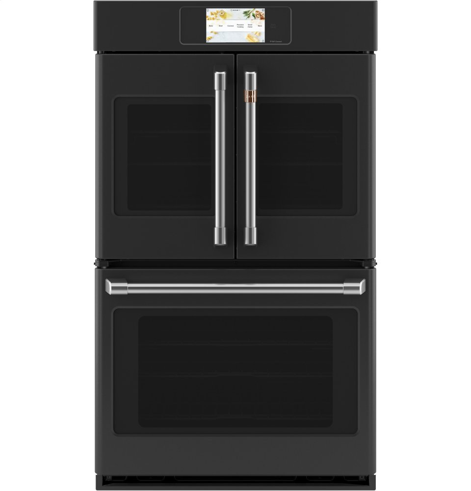 "Cafe AppliancesCaf(eback) Professional Series 30"" Smart Built-In Convection French-Door Double Wall Oven"