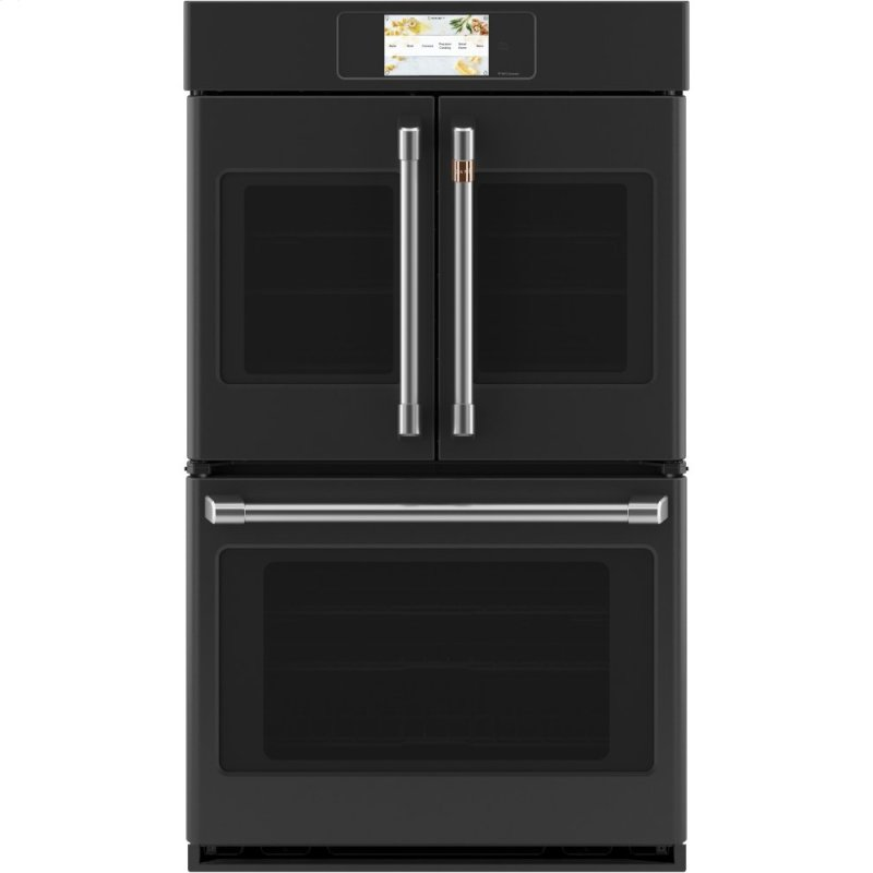 "Caf(eback) Professional Series 30"" Smart Built-In Convection French-Door Double Wall Oven"