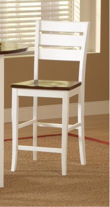 Ridgewood White and Cherry Counter Stool