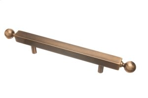 """1"""" square pull 8"""" center to center with ball ends Surface Mount - Light Statuary Bronze"""