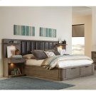 Precision - King/california King Low Upholstered Headboard - Gray Wash Finish Product Image