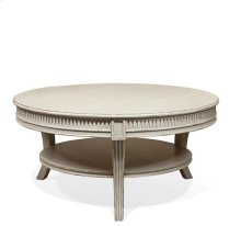 Huntleigh Round Coffee Table Vintage White finish