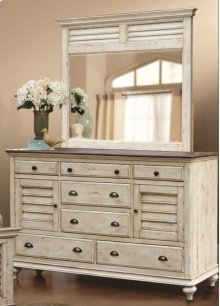 CF-2300 Bedroom - Dresser with Shutter Mirror - Sunset Trading