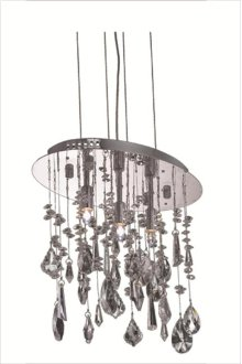 5902 Mirage Collection Hanging Fixture Chrome Finish (Royal Cut Crystals)