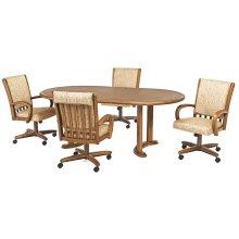 Table Base: Twin Legs (chestnut)