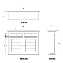 Shutter Narrow Sideboard