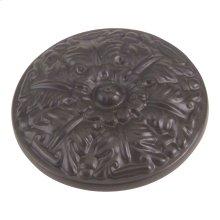 Hammered Medallion Knob 1 1/2 Inch - Aged Bronze