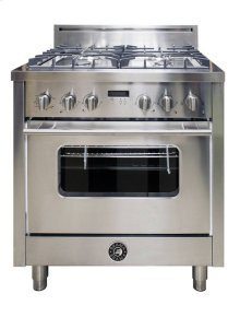 30 Inch 4-Burner Italian Gas Oven (Stainless)