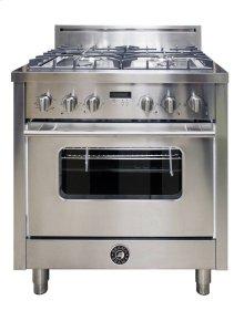 30 Inch 4-Burner Italian Gas Oven (Stainless)
