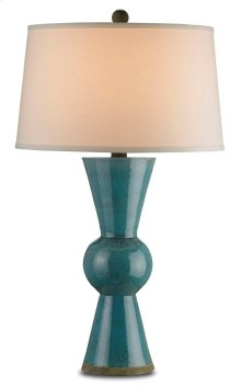 Upbeat Teal Table Lamp