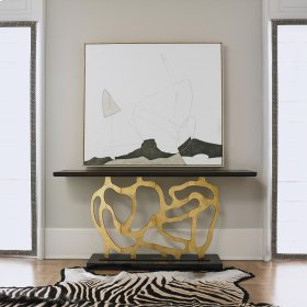 Sculpted Console - Gold