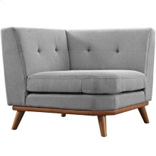 Engage Upholstered Fabric Corner Sofa in Expectation Gray