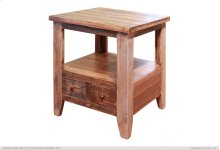End Table w/2 Drawers