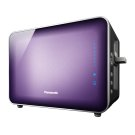 Stainless Steel and Glass Toaster, Violet Product Image