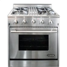 "NXR 30"" Professional Range with Four Burners, Convection Oven, Center Grate, Natural Gas (DRGB3001-CG)"