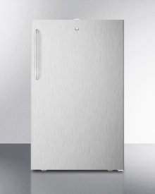"""Commercially Listed ADA Compliant 20"""" Wide Built-in Refrigerator-freezer In With A Lock In Complete Stainless Steel Exterior"""