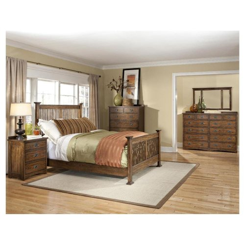 Queen Slat Bed Footboard