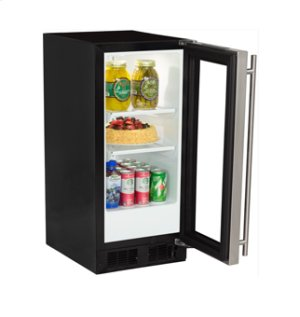 """15"""" All Refrigerator - Marvel Refrigeration - Black Door - Left Hinge"""
