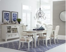 Rockport 7-piece Rectangle Dining Set With Arm Chairs and Side Chairs - White With Driftwood Top