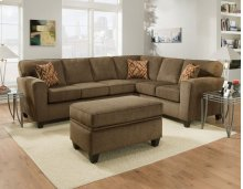 3100 - Cornell Cocoa Sectional 2-Piece Sectional