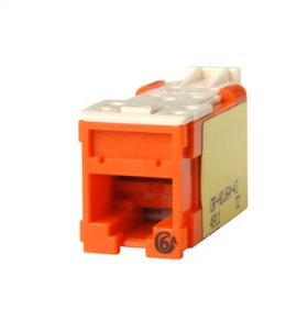 Clarity Cat6a High Density Jack,T568A/B, orange