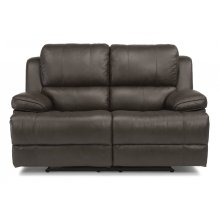 Simon Leather Power Reclining Loveseat