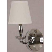 1-lite Wall Lamp, Chrome/white Fabric Shade, E12 B 40w