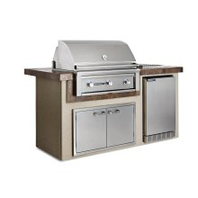 """Contemporary Gray 36"""" Island Package, LP"""