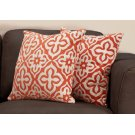 "PILLOW - 18""X 18"" / ORANGE MOTIF DESIGN / 2PCS Product Image"